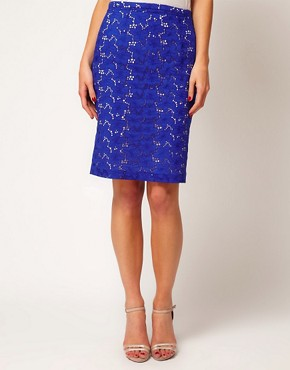 Image 4 of Coast Broderie Pencil Skirt