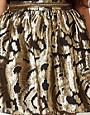 Image 3 ofRiver Island Gold Baroque Skater Skirt