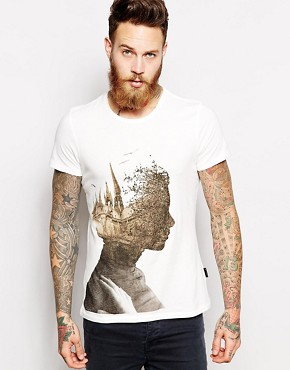 Sisley T-Shirt With Silhouette Print