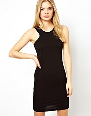 Vila Body Con Dress With Racer Detail