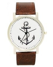 ASOS Watch With Anchor Print
