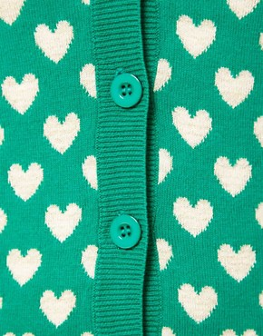 Image 3 ofA Wear Heart Jacquard Cardigan