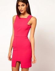 Aqua - Voltaire Panelled Front Mini Dress