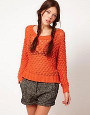 b + ab Pointelle Knit Jumper