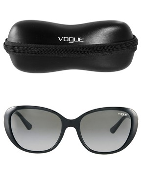 Image 2 ofVogue Black With Faux Pearl Sunglasses