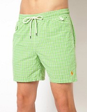 Polo Ralph Lauren Green Gingham Swim Shorts