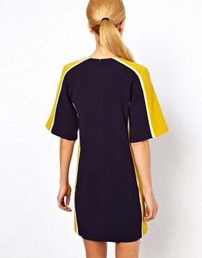 Image 2 ofASOS Shift Dress With Colour Block Sides