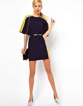 Image 4 ofASOS Shift Dress With Colour Block Sides