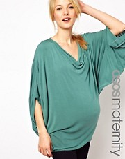 ASOS Maternity Exclusive Top With Volume Sleeve and Cowl Neck