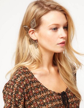 Image 1 ofASOS Filigree Leaf Ear Cuff