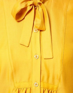Image 3 ofFrench Connection Alexa Silk Mix Smock Shirt