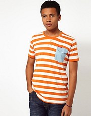 Criminal Damage Striped T-Shirt