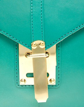 Image 2 ofASOS Leather Portfolio Clutch