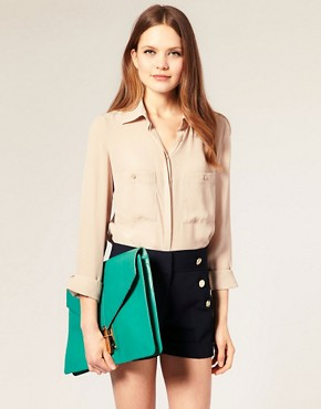 Image 3 ofASOS Leather Portfolio Clutch