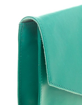 Image 4 ofASOS Leather Portfolio Clutch