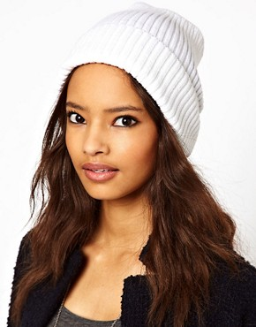 Image 1 ofASOS Metallic Rib Boyfriend Beanie