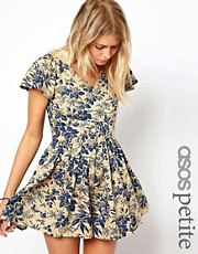 ASOS PETITE Exclusive Playsuit in Vintage Floral Print
