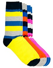 Jack & Jones  Viking  Gestreifte Socken im 3er-Pack