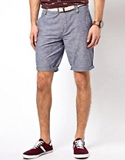 River Island &ndash; Bertie &ndash; Genoppte Shorts