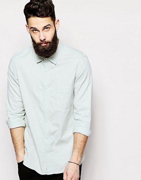 Cheap Monday Denim Shirt Air Pale Blue