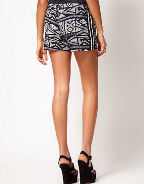 Image 2 ofRiver Island Aztec Print Short With Sequin Trim