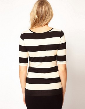 Image 2 ofASOS Maternity Exclusive Stretch Top In Wide Stripe