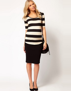 Image 4 ofASOS Maternity Exclusive Stretch Top In Wide Stripe