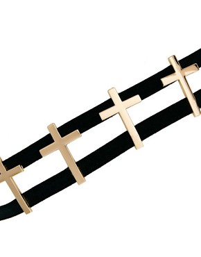 Image 3 ofASOS 4 Cross Elastic Waist Belt
