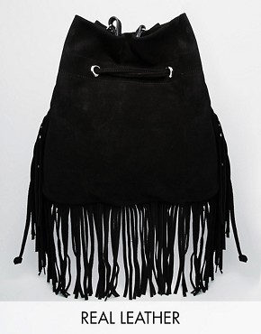 Faith Fringe Suede Duffle