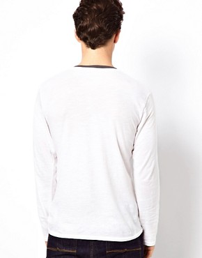 Image 2 ofEsprit Long Sleeve Top With Double Layer Look