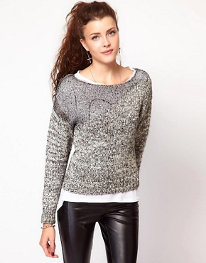 Image 1 of Vero Moda Metallic Mohair Knitted Jumper