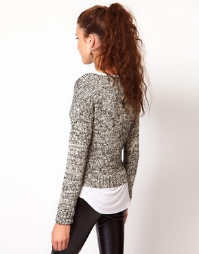 Image 2 of Vero Moda Metallic Mohair Knitted Jumper