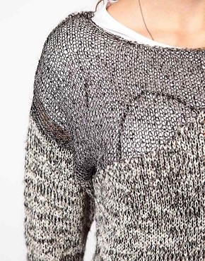 Image 3 of Vero Moda Metallic Mohair Knitted Jumper