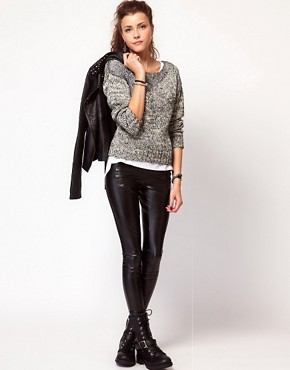 Image 4 of Vero Moda Metallic Mohair Knitted Jumper