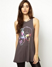 ASOS Oversized Vest with Multicoloured Skulls