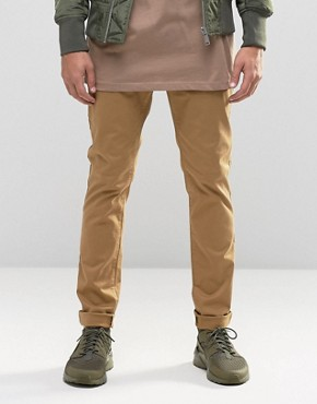 ASOS Skinny Chinos In Sandy Brown