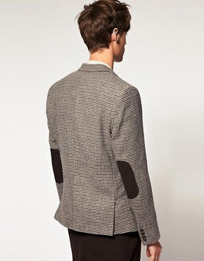 Image 2 ofASOS Slim Fit Tweed Check Blazer