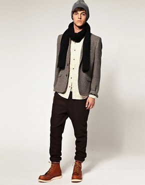 Image 4 ofASOS Slim Fit Tweed Check Blazer