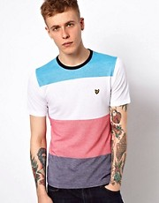 Camiseta colour block multicolor de Lyle & Scott Vintage
