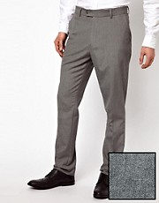 Pantalones de vestir de corte slim en gris de ASOS