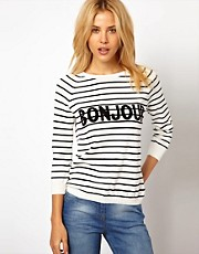 ASOS Bonjour Jumper In Stripe