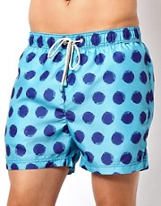 Oiler &amp; Boiler Giant Polka Dot Classic Swim Shorts