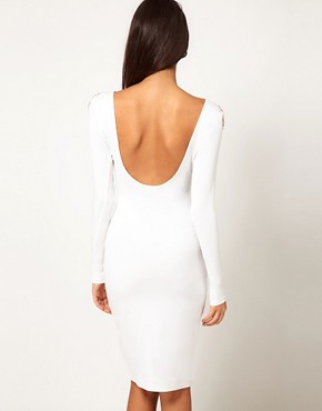 Image 2 of ASOS Midi Dress With Embellished Shoulder