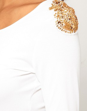 Image 3 of ASOS Midi Dress With Embellished Shoulder