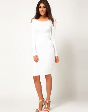Image 4 of ASOS Midi Dress With Embellished Shoulder