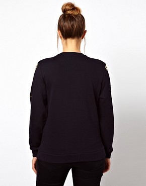 Image 2 ofASOS CURVE Jumper with Stud Shoulders