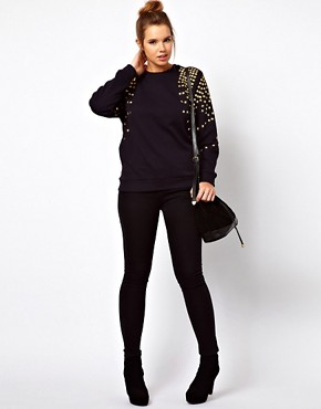 Image 4 ofASOS CURVE Jumper with Stud Shoulders