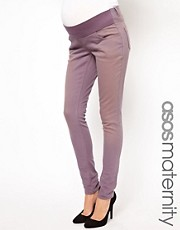 ASOS Maternity Elgin Skinny Jeans In Lilac