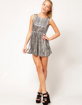 Image 4 ofGlamorous Foil Print Sequin Dress