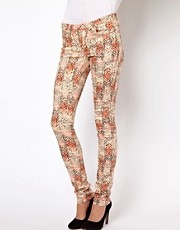 Vila Aztec Print Skinny Jeans